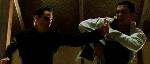 "Hvorfor all denne slåssingen? Kamper i The Matrix - sinnets domene - er kamper om idéer. De vanskelige spørsmålene må stilles, og kjempes med, uansett hvor svarløse de kan synes. Som Seraph (Guds vokter) sier... ""You do not truly know someone, until you fight them""."