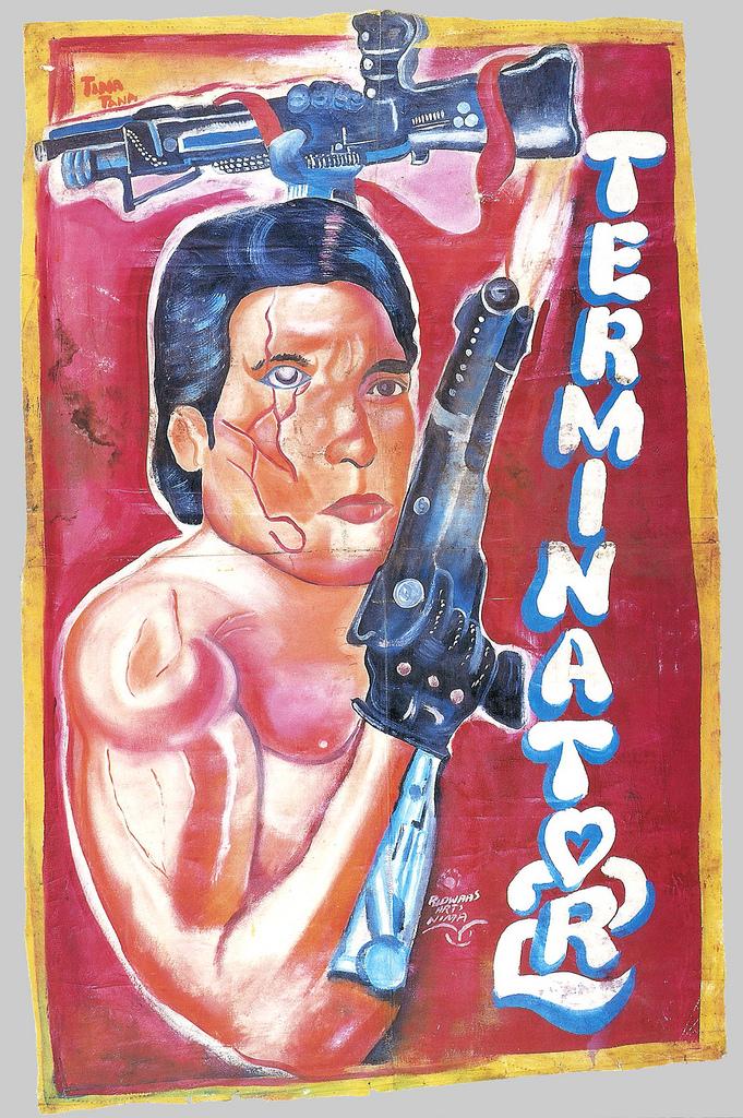 Ghanesisk Terminator-plakat