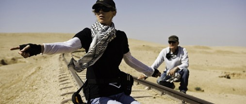 Kathryn Bigelow på settet til <em>The Hurt Locker</em>