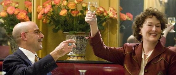 "Meryl Streep og Stanley Tuccy i ""Julie & Julia"""