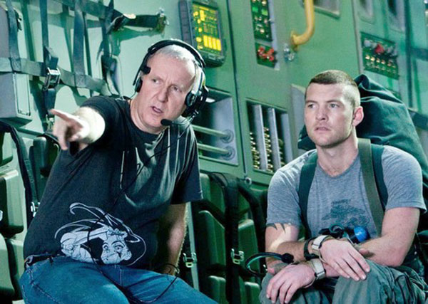 James Cameron instruerer Sam Worthington