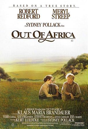 Meryl Streep og Robert Redford i <em>Mitt Afrika</em>