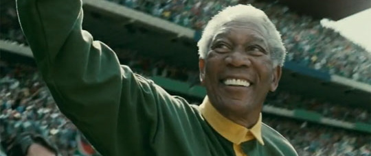Morgan Freeman som Nelson Mandela i <em>Invictus</em>