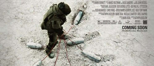 Utsnitt av plakaten fra «The Hurt Locker», nominert til beste film.