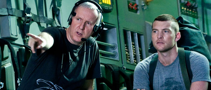 James Cameron og Sam Worthington