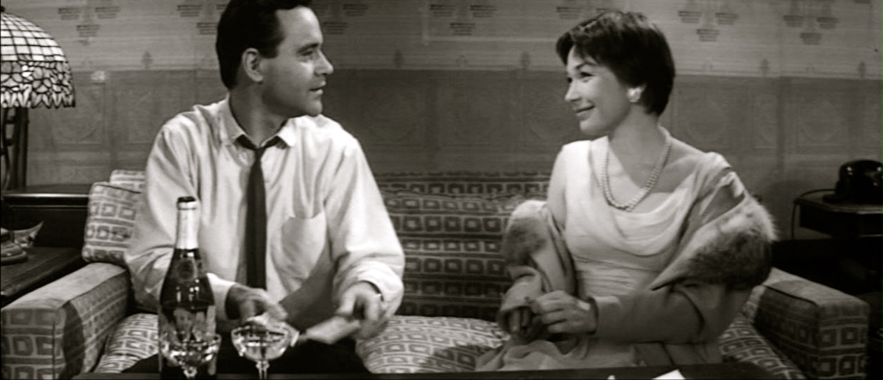 "Shirley Maclaine og Jack Lemmon i ""The Apartment"""
