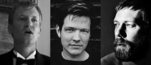 Fra venstre: Ulrich Thomsen i «Festen», regissør Thomas Vinterberg og Jakob Cedergren fra «Submarino»