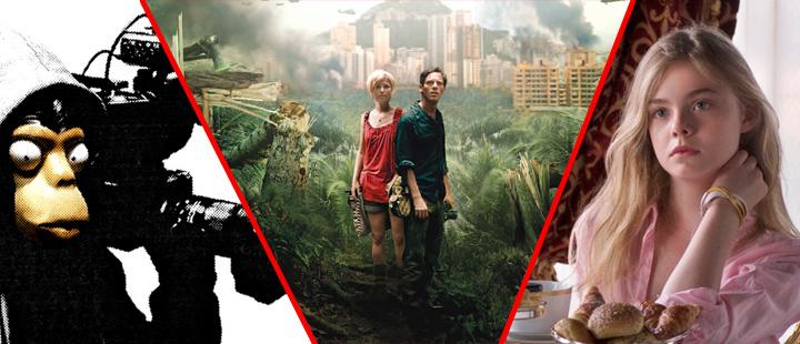 Tre av filmene vi snakker om: «Exit Through the Gift Shop», «Monsters» og «Somewhere»