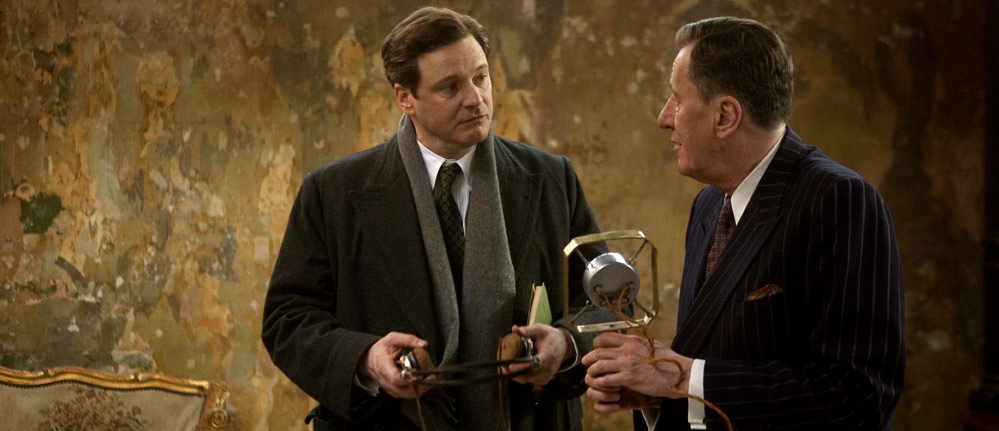 Colin Firth og Geoffrey Rush, begge nominert for sin innsats i «The King's Speech»