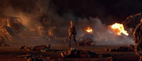 Stillbilde fra den amerikanske katastrofefilmen «World Invasion: Battle Los Angeles»