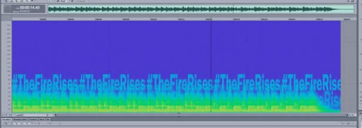 En visuell fremstilling av lydfrekvensene
