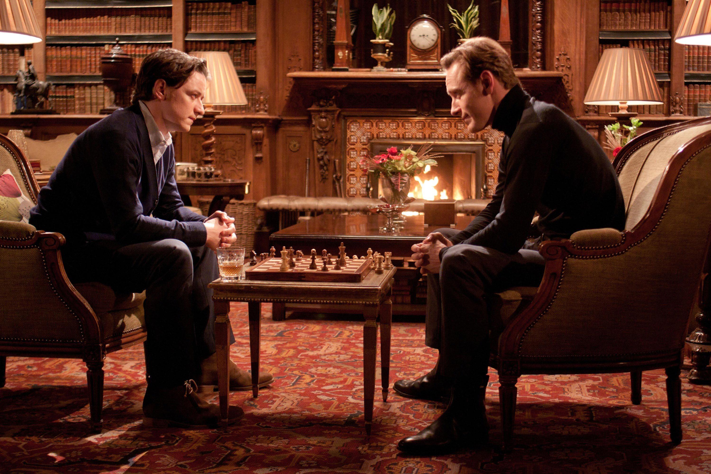 James McAvoy som Professor Xavier og Michael Fassbender som Magneto