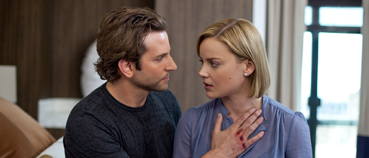 Stillbilde fra den amerikanske «Limitless». En awesome film med Bradley Cooper (t.v) og Abbie Cornish (t.h).