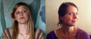Fra «Få meg på, for faen» – fra venstre, hovedpersonen Alma (Helene Bergsholm) og regissør Jannicke Systad Jacobsen.