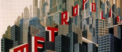 Utsnitt av filmplakat for «Metropolis».