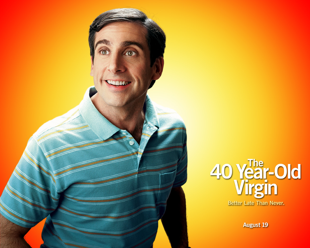 Steve Carrell som en litt alternativ kjekkas i «The 40 Year-Old Virgin»