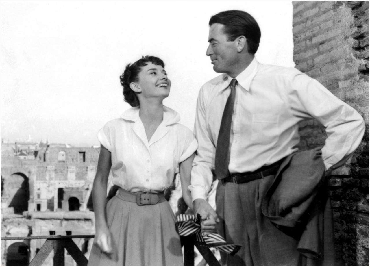 Audrey Hepburn og Gregory Peck i «Roman Holiday»