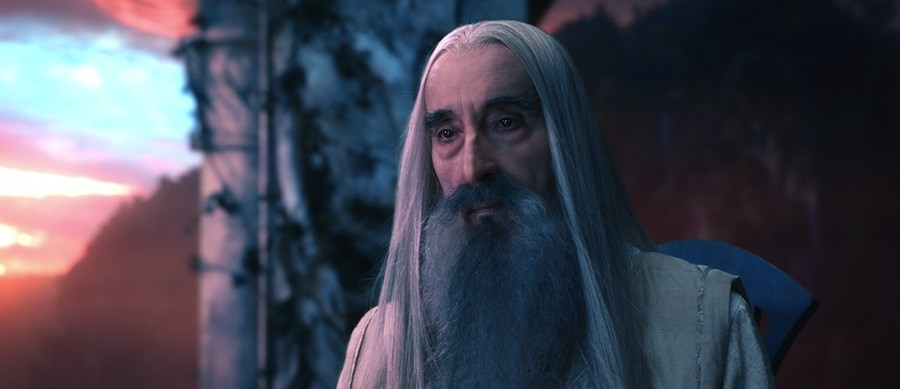 "CHRISTOPHER LEE as the Wizard Saruman the White in the fantasy adventure ""THE HOBBIT: AN UNEXPECTED JOURNEY,"" a production of New Line Cinema and Metro-Goldwyn-Mayer Pictures (MGM), released by Warner Bros. Pictures and MGM."