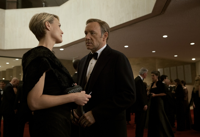Spacey og Robin Wright, som spiller Francis' like beinharde kone.