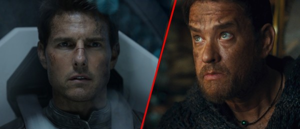 Tom Cruise i «Oblivion» og Tom Hanks i «Cloud Atlas»