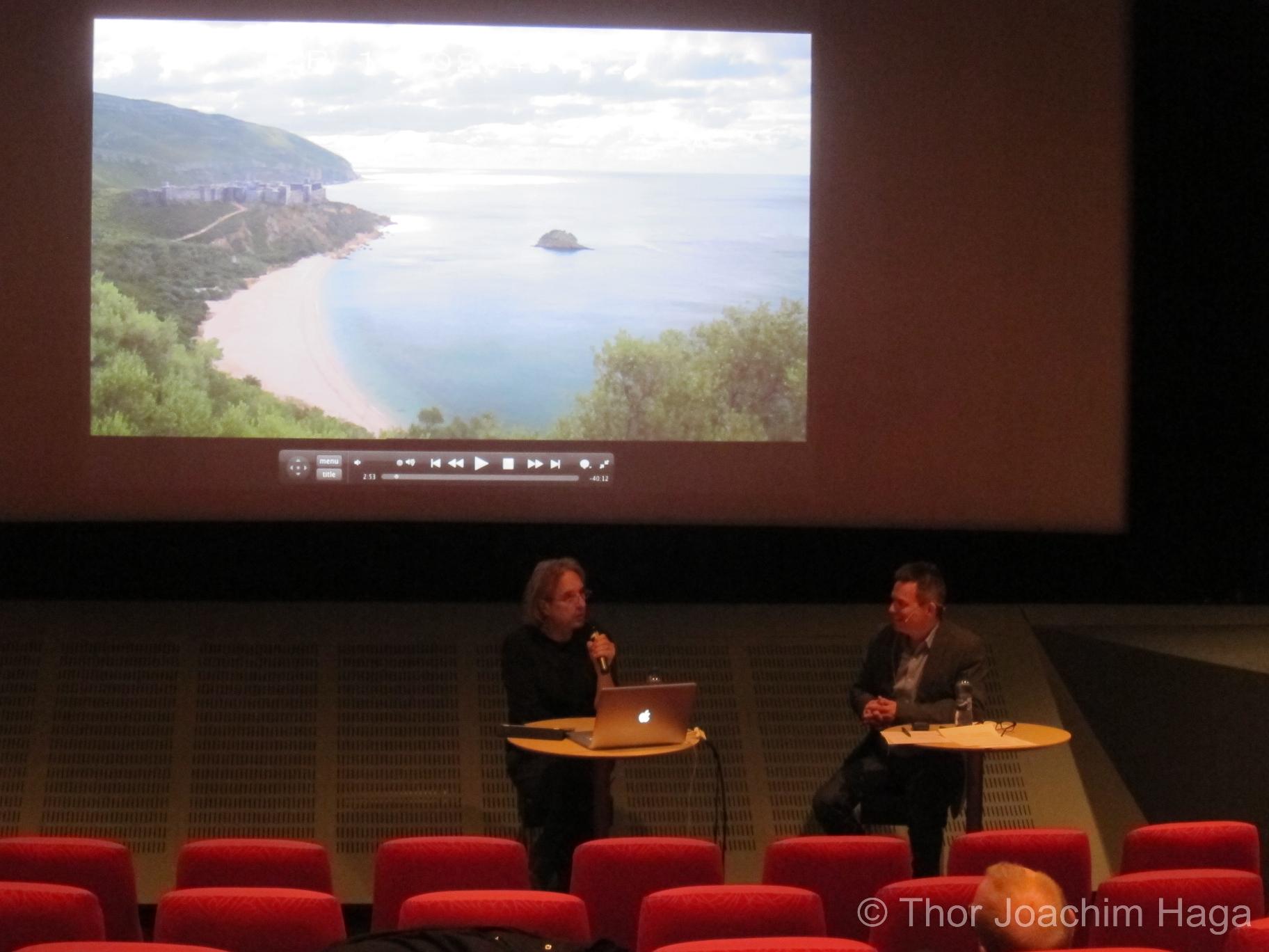 Bernard Grimaldi snakker om sitt arbeide på fransk TV-serie om Odyssevs