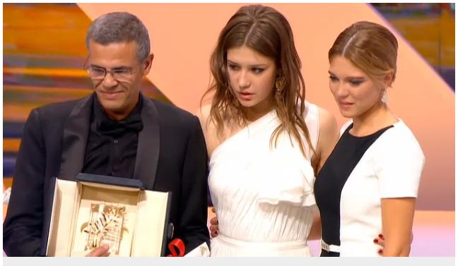 Abdellatif Kechice, Léa Seydoux og Adèle Exarchopoulos delte Gullpalmen for «La vie d'Adèle».