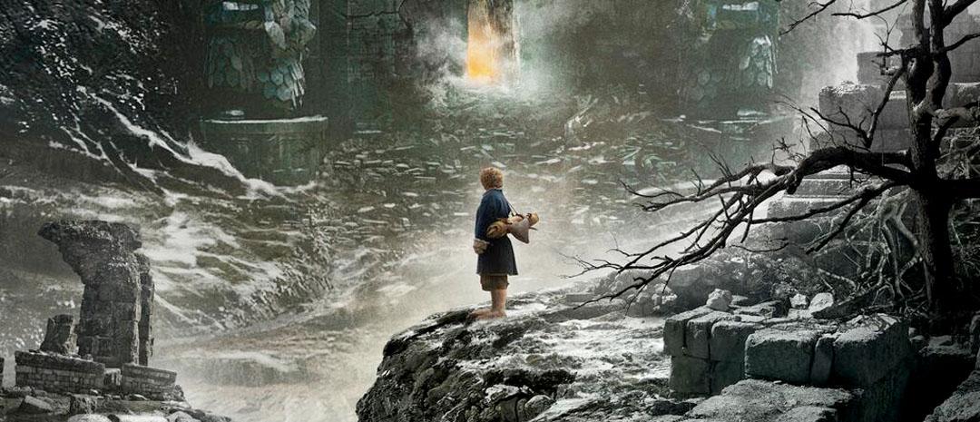 Bilbo nærmer seg dragen i første plakat til Hobbiten: Smaugs ødemark