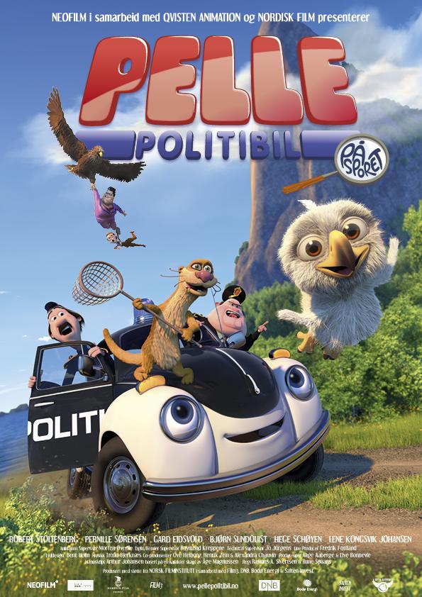 Kinoplakat «Pelle Politibil på sporet»