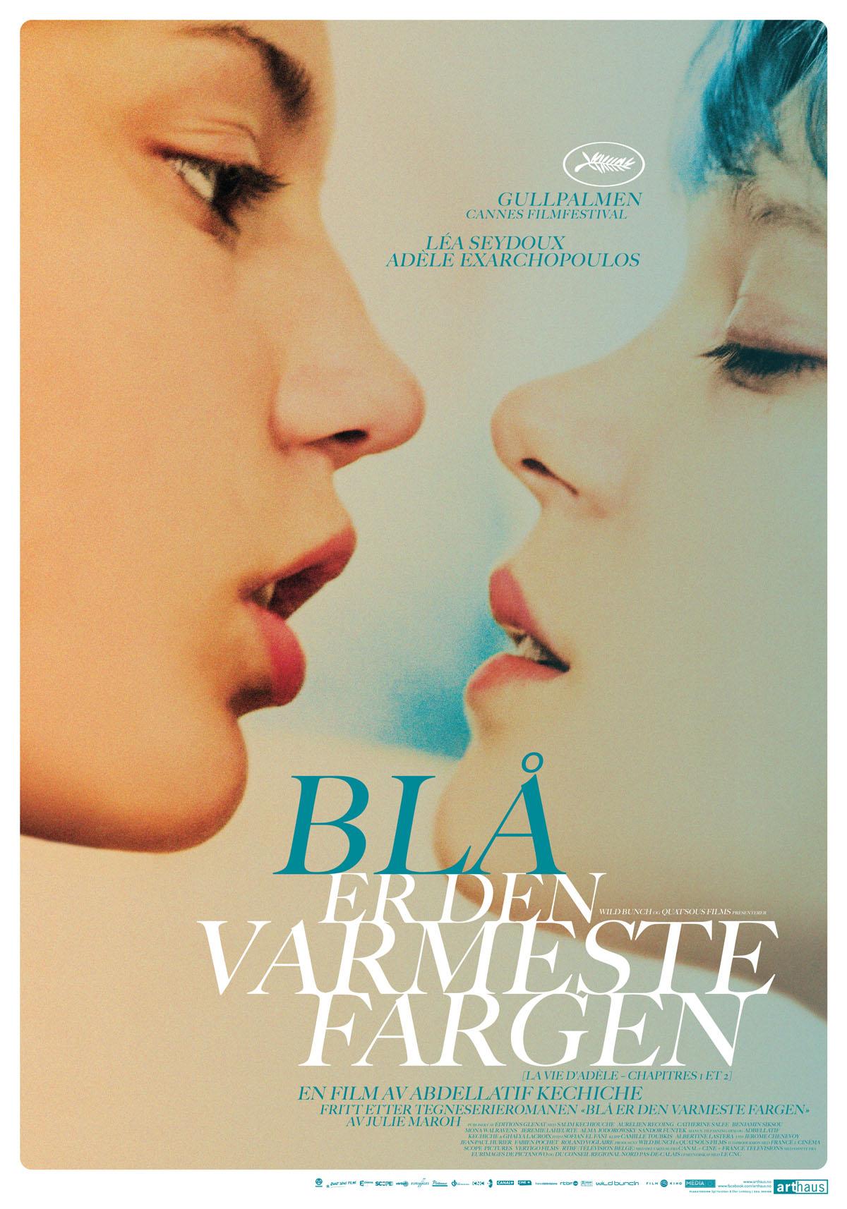Blå er den varmeste fargen – norsk plakat