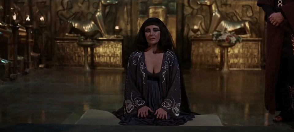 Cleopatra (1963) med Elisabeth Taylor i hovedrollen.