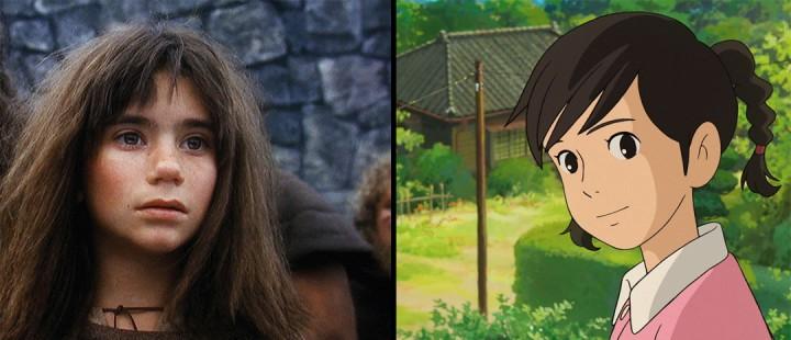 Ronja Røverdatter til venstre, fra Miyazakis «Poppy Hill» til høyre.