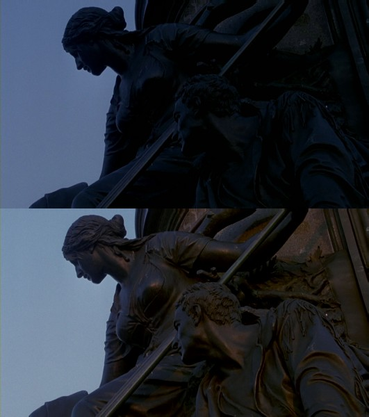 montages international edition the sixth sense part iii  this detail from the george washington monument appears between the scene where malcolm ponders the latin expression cole gave him and the breakfast