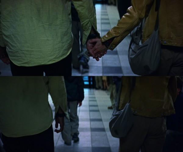 David and Audrey hands