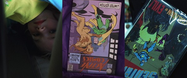 comic book upside down montage