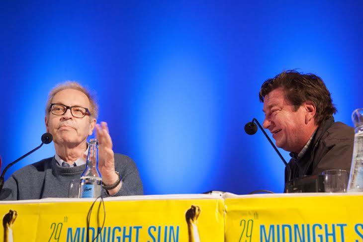 Peter von Bagh & Aki Kaurismaki (Foto: Ella Karttunen).