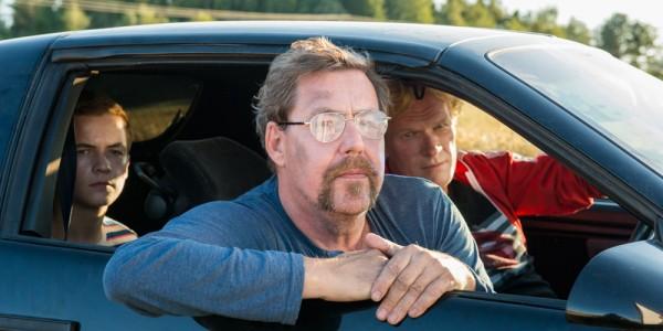 Oscar Sandven Lundevold, Otto Jespersen og Sven Nordin (og bil).