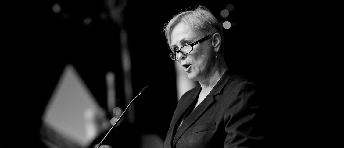Kulturminister Thorild Widvey taler. Foto: Haakon Nordvik