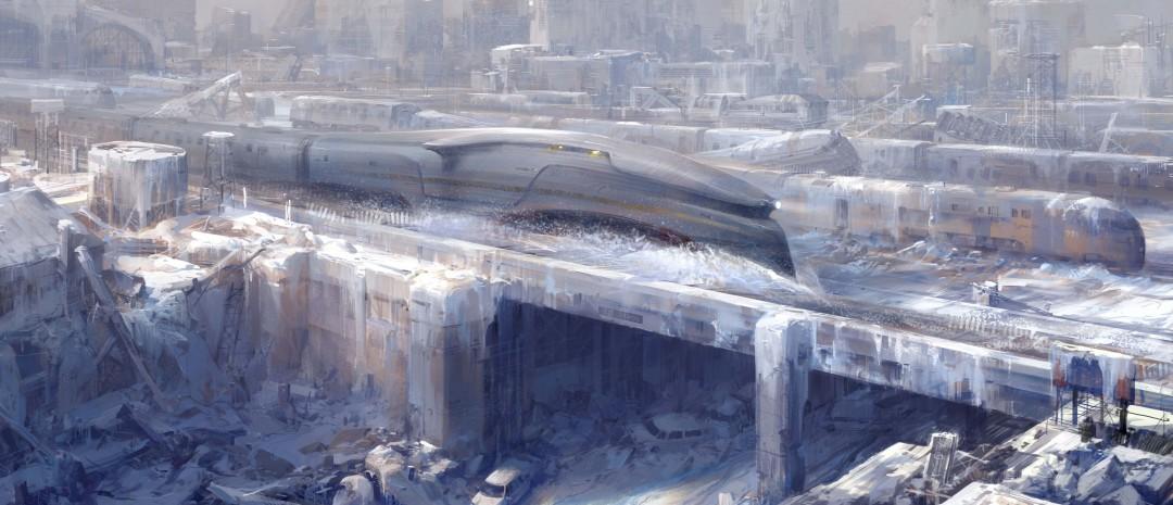 Bildeutdrag fra den franske tegneserieromanen «Le Transperceneige», som «Snowpiercer» baserer seg på