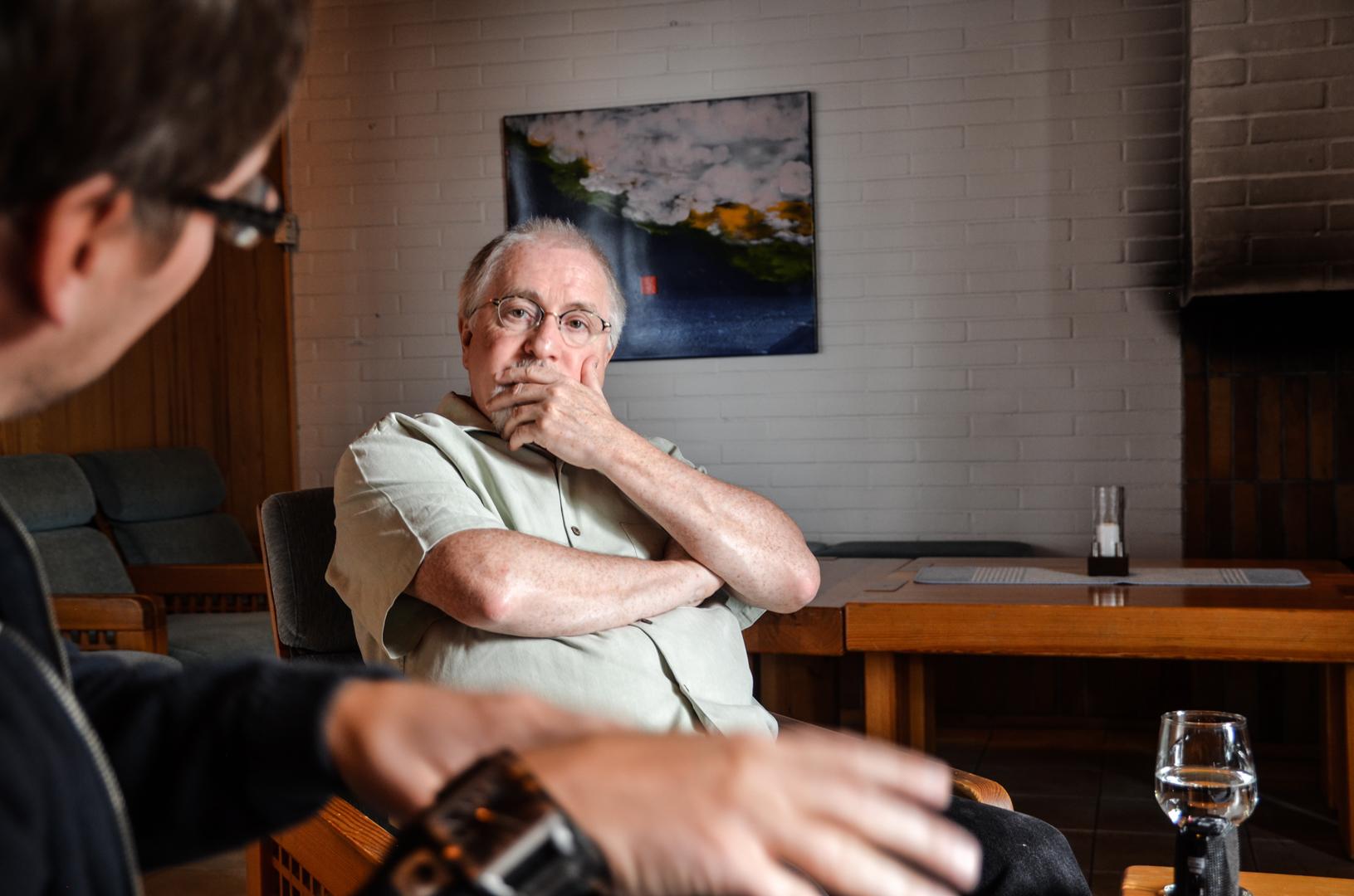 Patrick Doyle, her i samtale med artikkelforfatteren. Foto: Eirik Myhr