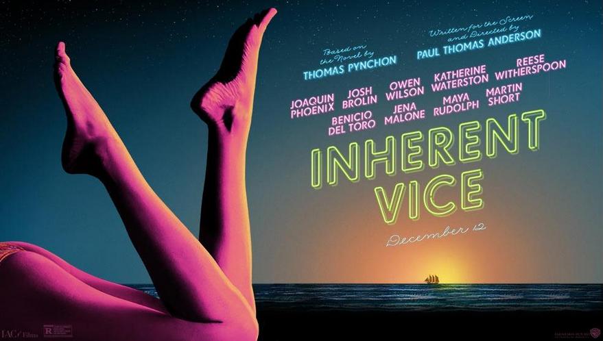 Liggende versjon av plakaten til «Inherent Vice».