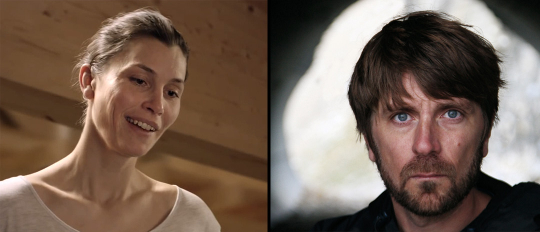 Lisa Loven Kongsli som Ebba i «Turist» og regissør Ruben Östlund.