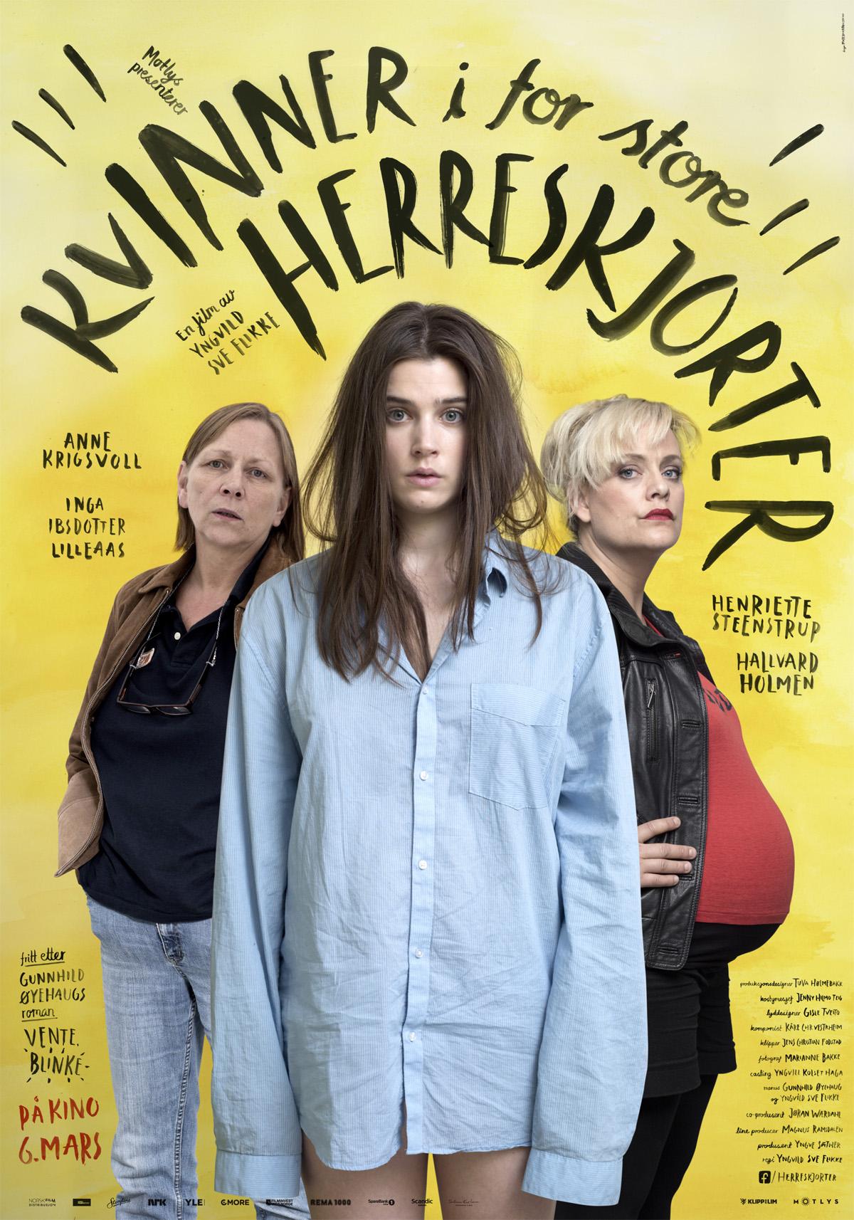 «Kvinner i for store herreskjorter» – kinoplakat