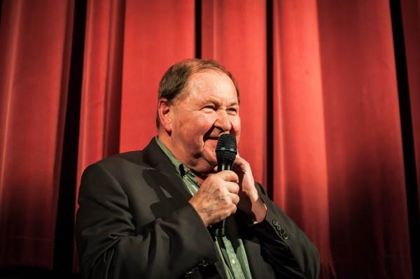 Roy Andersson i lystig prat med publikum under gårsdagens seanse i Grand Teatret. Foto: Jacob Hansen