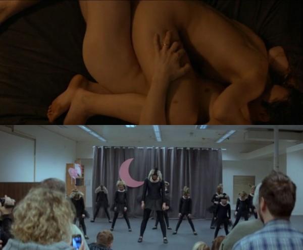 sex og danseforestilling montasje