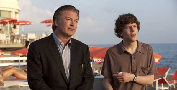 Alec Baldwin og Jesse Eisenberg i «To Rome With Love»