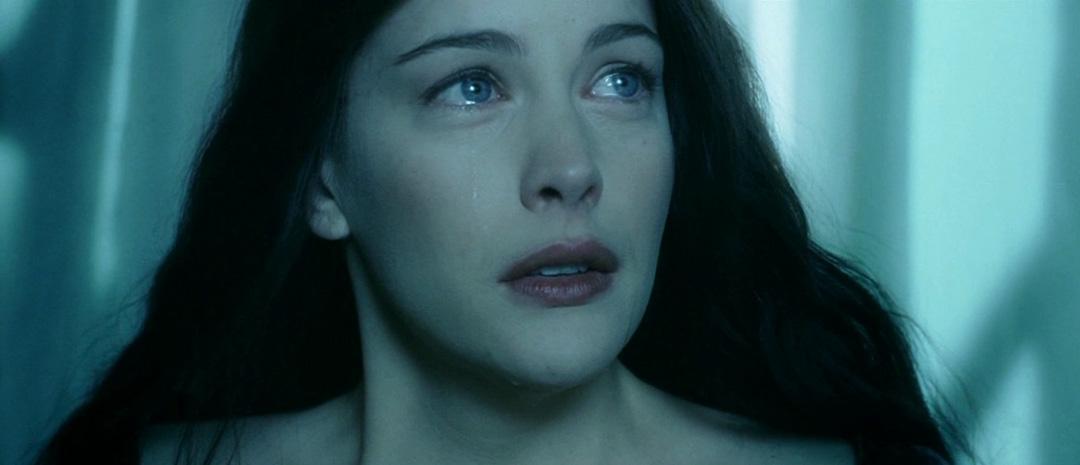 Arwen (Liv Tyler) i «Ringenes herre: To tårn» (2002), fotografert av Andrew Lesnie.