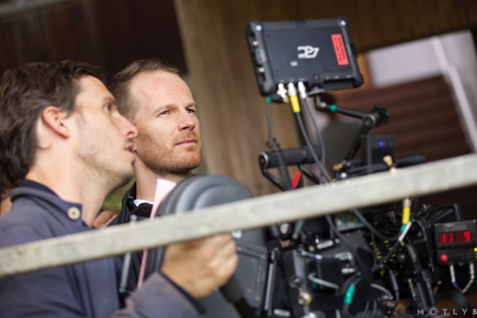 Joachim Trier og fotograf Jacob Ihre under innspillingen av «Louder Than Bombs».