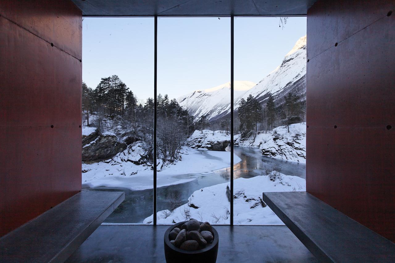 Juvet landskapshotell (2997-2013). Jensen og Skodvin. Foto: Juvet.com