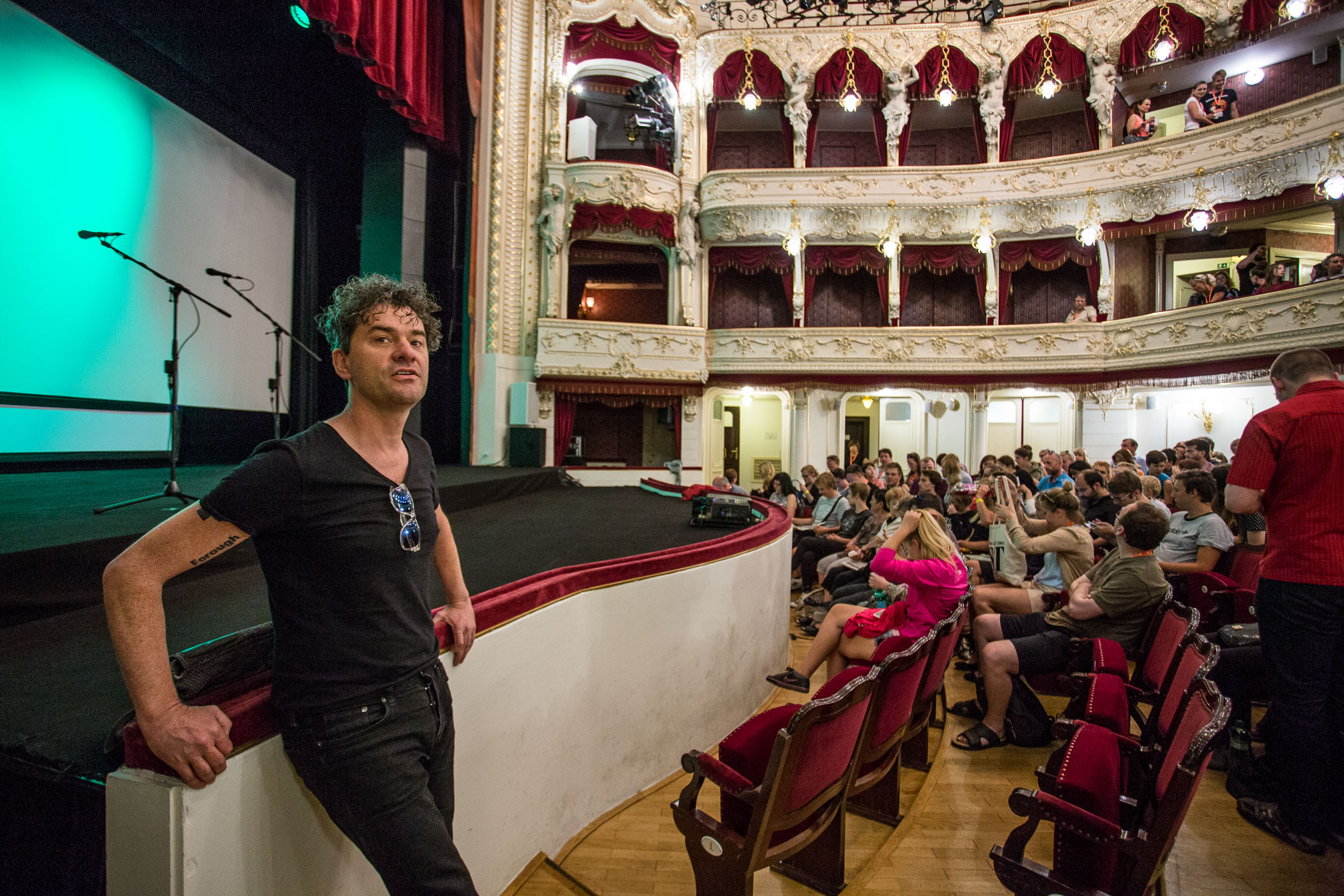 Mark Cousins at the Karlovy Vary International Film Festival, 2015.