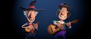 Knutsen & Ludvigsen står på scenen med gitarer